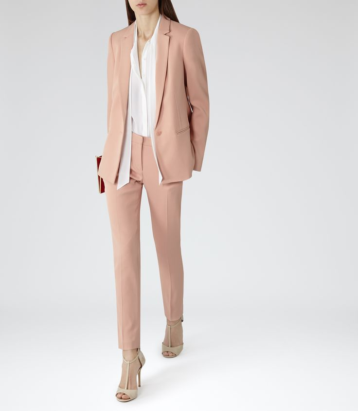Womens Soft Amber Slim-fit Trousers - Reiss Indi