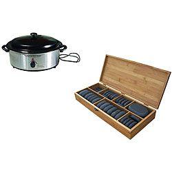 40-piece Hot Stones/ Warmer Massage Kit   Overstock.com Shopping - Great Deals on Massage Tools