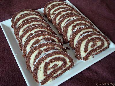 Kriszta konyhája- Sütni,főzni bárki tud!: Kókuszos keksztekercs