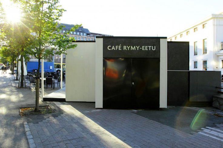 Cafe Rymy-Eetun julkisivun Laminan ABL-Laaatat