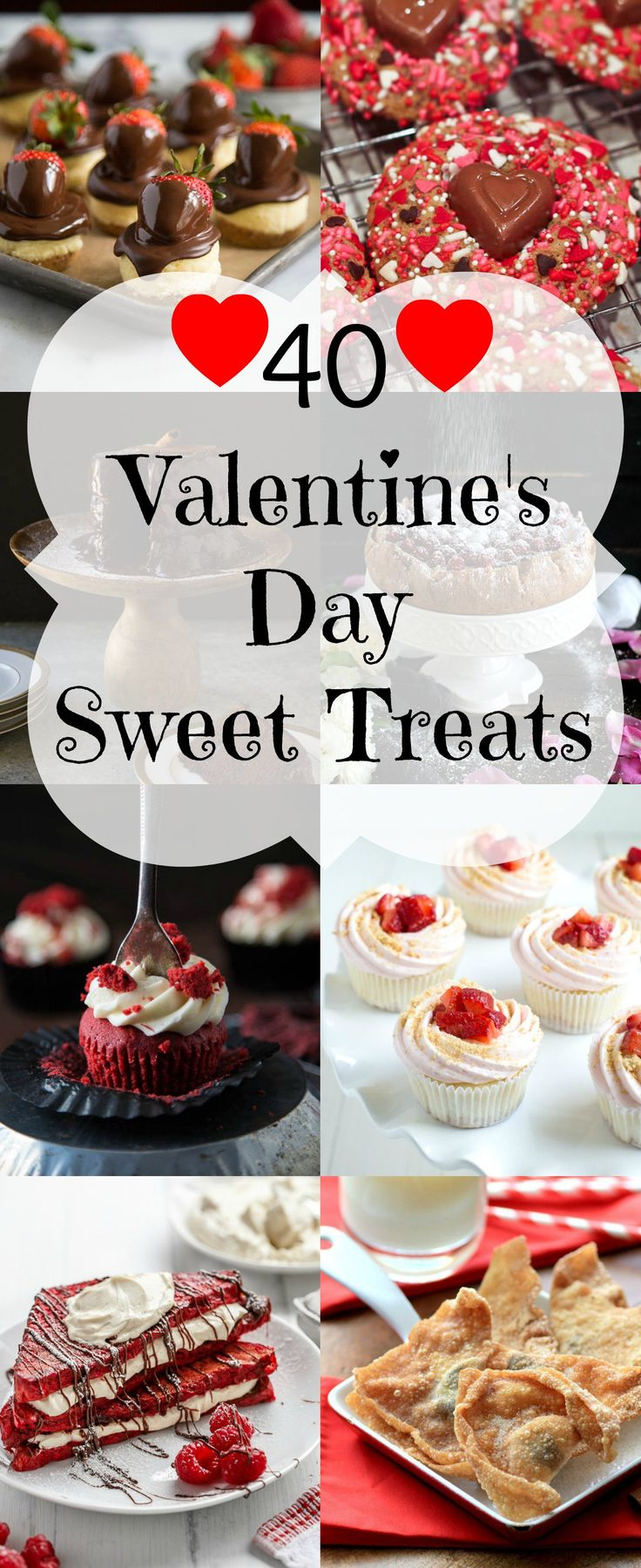 It is that time again to make something for the sweethearts in your life, so I have for you40 Valentine's Days Sweet Treats!! | Noshing with the Nolands