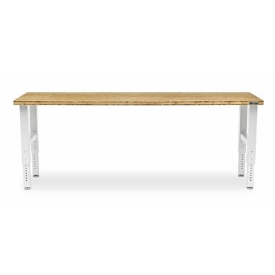 Gladiator 96-in W White Adjustable Height Bamboo Work Bench