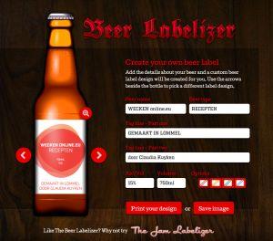 Gratis etiketten maken voor likeur en bier