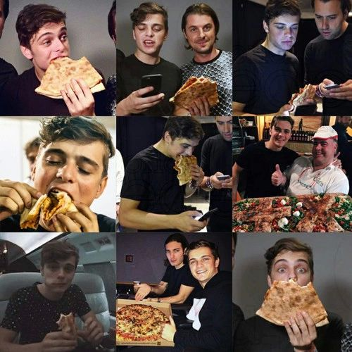 Hot guys stuffing pizza in their face. Nuff said.