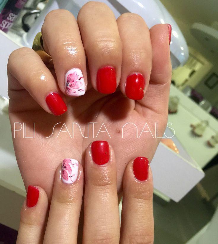 Lacquer pro red 1935 flor en acuarela. #nails #nailart #nailpolish #nailschile #nail #lacquer #lacquerpro #red1935 #organicnails @organicnails #diseño #diseñospili #diseñosamano #acuarela #pilarsantander #pilisantanails #esmaltepermanente