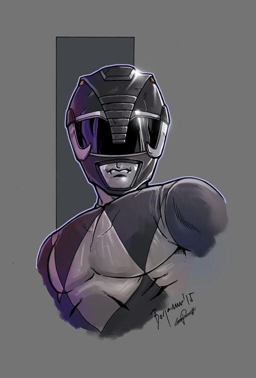 mighty morphin power rangers black color by le0arts on DeviantArt