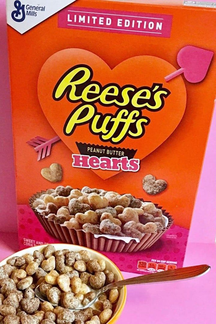 Heart Shaped Reese S Puffs Are On Shelves For Valentine S Day So