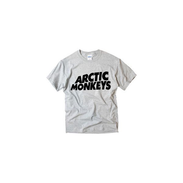 ARCTIC MONKEYS Logo #2 EMO ROCK MUSIC BAND Indie t-shirt ❤ liked on Polyvore