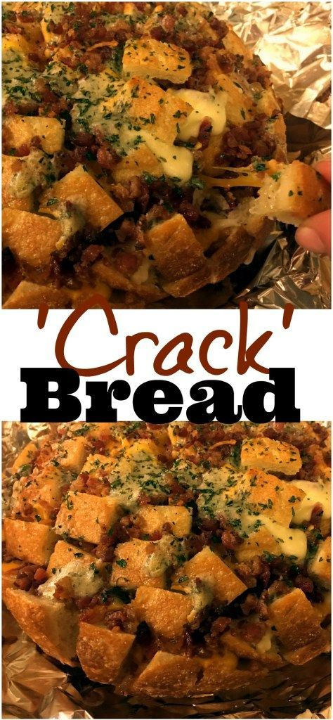 'Crack' Bread is a sourdough pull apart bread appetizer made with bacon, cheese, ranch seasoning, and butter.  It is the best I have ever had!  After one taste you will know how it got it's name!