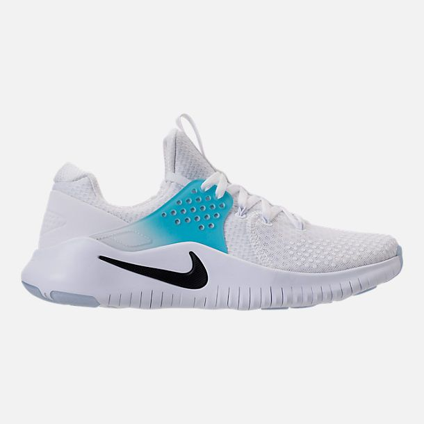 buy online 8d695 a92db Right view of Men s Nike Free Trainer V8 Training Shoes in  White Black Lagoon Pulse