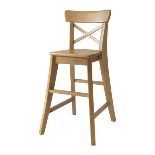 IKEA - INGOLF, Sedia alta, mordente anticato, , Permette al tuo bambino di stare a tavola alla giusta altezza.