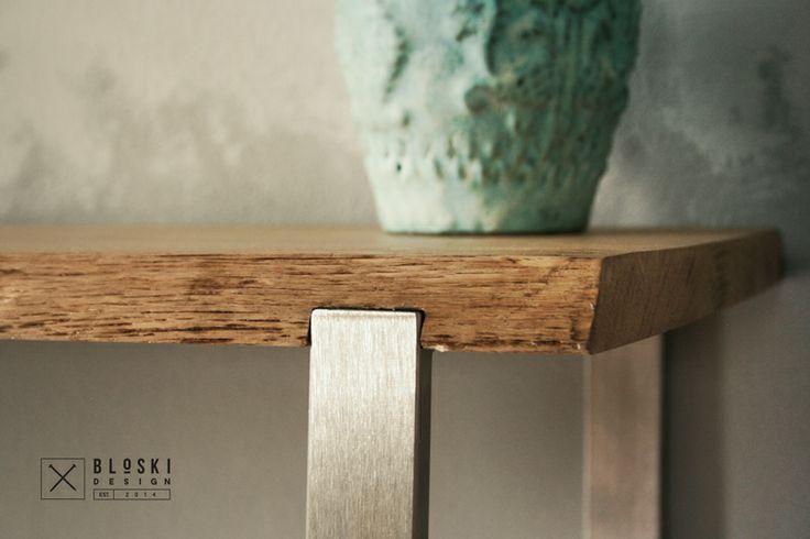 stainless steel & oak