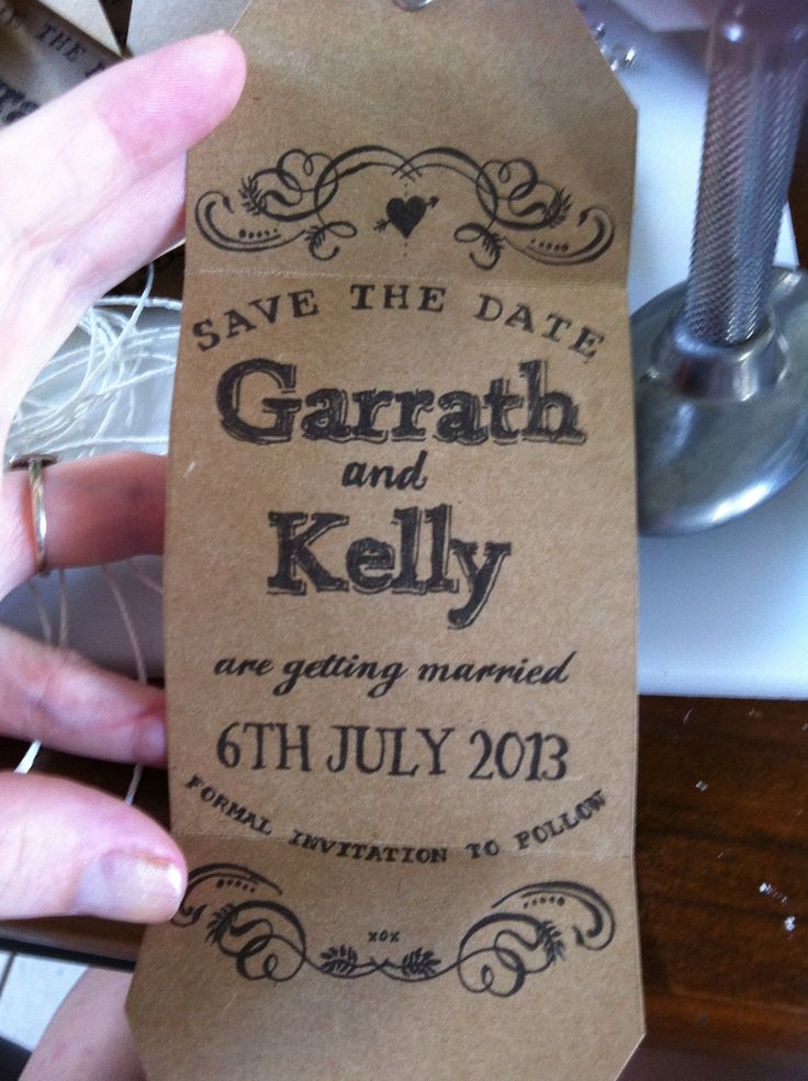Save the Date Rustic made by Amber & Will Handmade