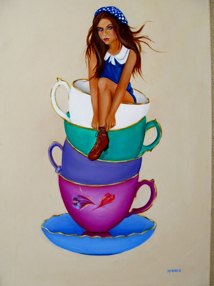 Whiskey in a teacup. Teacup Love.