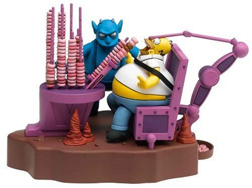 Simpsons Ironic Punishment Deluxe Boxed Set. Based on Treehouse of Horror, Episode #1F04. Donut eating Action!