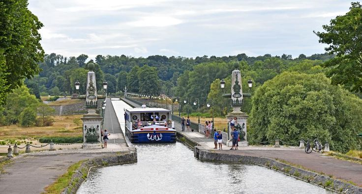Photo of the Week: Hotel barge Renaissance crossing the Pont Canal de Briare: http://www.gobarging.com/renaissance-barge… #TravelPics