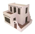 Handley House Miniature 1/2-Inch Scale Pueblo Dollhouse Kit sold at Miniatures Toys