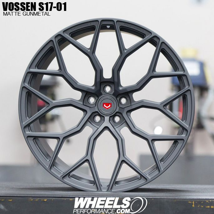 Matte Gunmetal Vossen Forged S17-01 wheels. This is one of the 48 colors available from Vossen for these wheels. Reach us today at 1.888.239.4335 or @WheelsPerformance for your free quote.