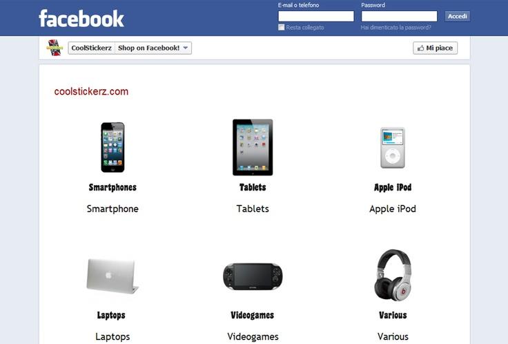 CoolStickerz Facebook's e-shop