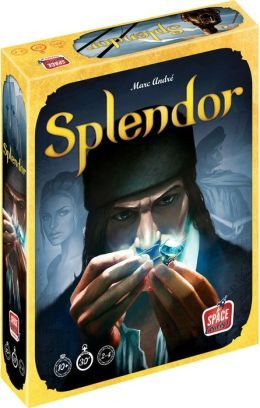 Splendor, board game, tabletop Great game - collect gems to gain points - however, game does not facilitate much player interaction.