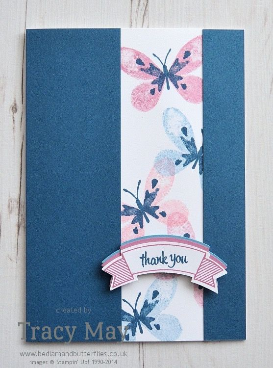 Watercolor Wings from Stampin' Up! & Duet Banner Punch Tracy May #GDP038