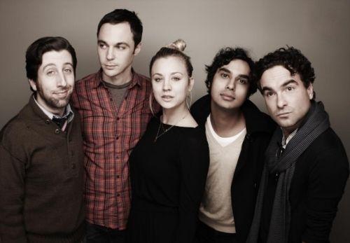 big bang theory  - Simon Helberg - Howard Wolowitz; Jim Parsons - Sheldon Cooper; Penny - Kaley Cuoco, Raj Koothrapalli - Kunal Nyyar and Leonard Hofstadter - Johnny Galecki