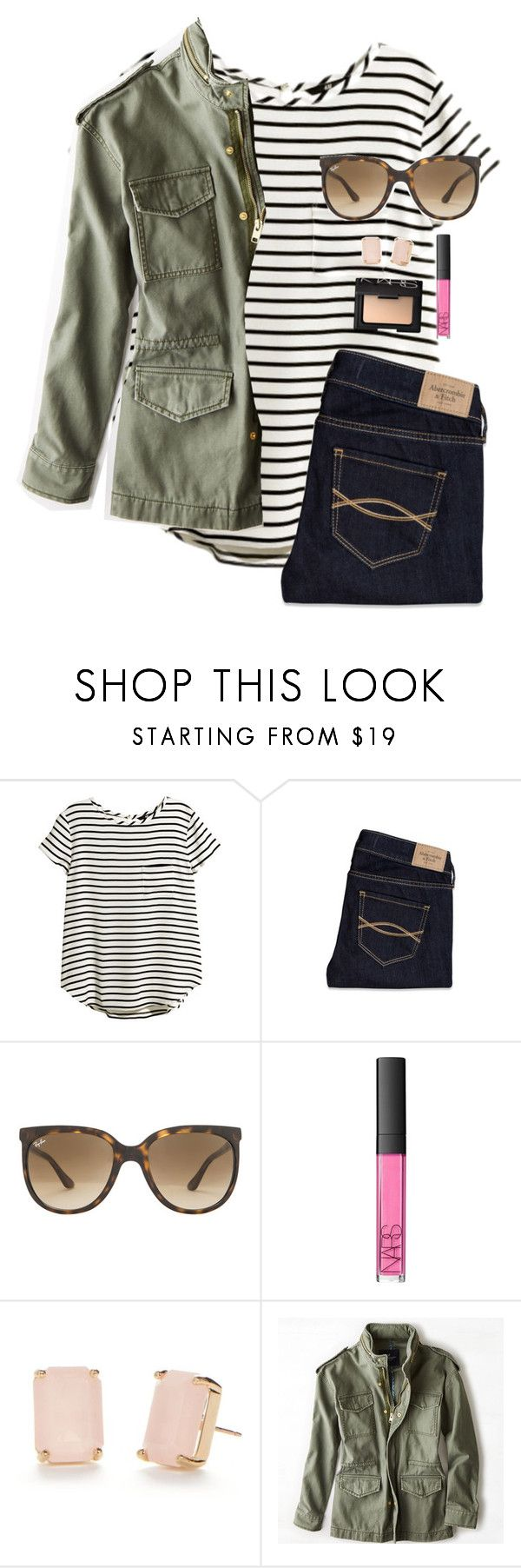 """""""Insta: @gracie_gerhart7: comment instas"""" by graciegerhart7 ❤ liked on Polyvore featuring H&M, Abercrombie & Fitch, Ray-Ban, NARS Cosmetics, Kate Spade, American Eagle Outfitters, women's clothing, women's fashion, women and female"""