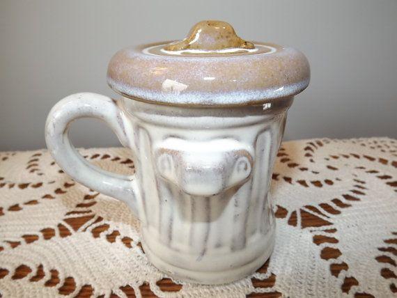 Dispari Vintage ceramica Garbage Can di OutrageousVintagious