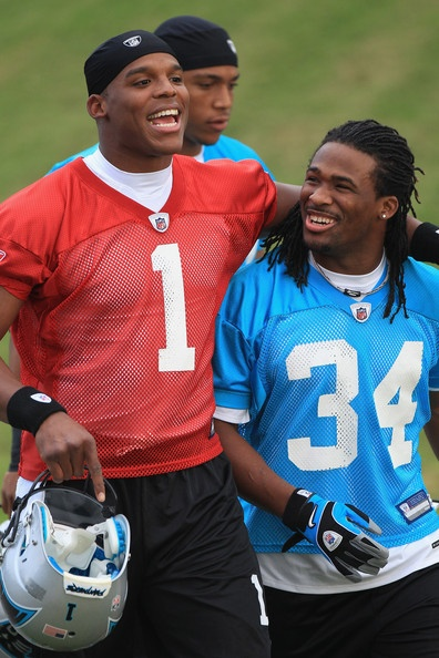 Training Camp at Wofford~ Two of the best Carolina Panthers, Cam Newton and DeAngelo Williams!