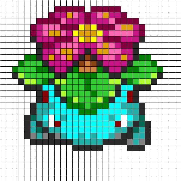 Pokemon Venusaur Fuse Bead Pattern Perler bead pattern