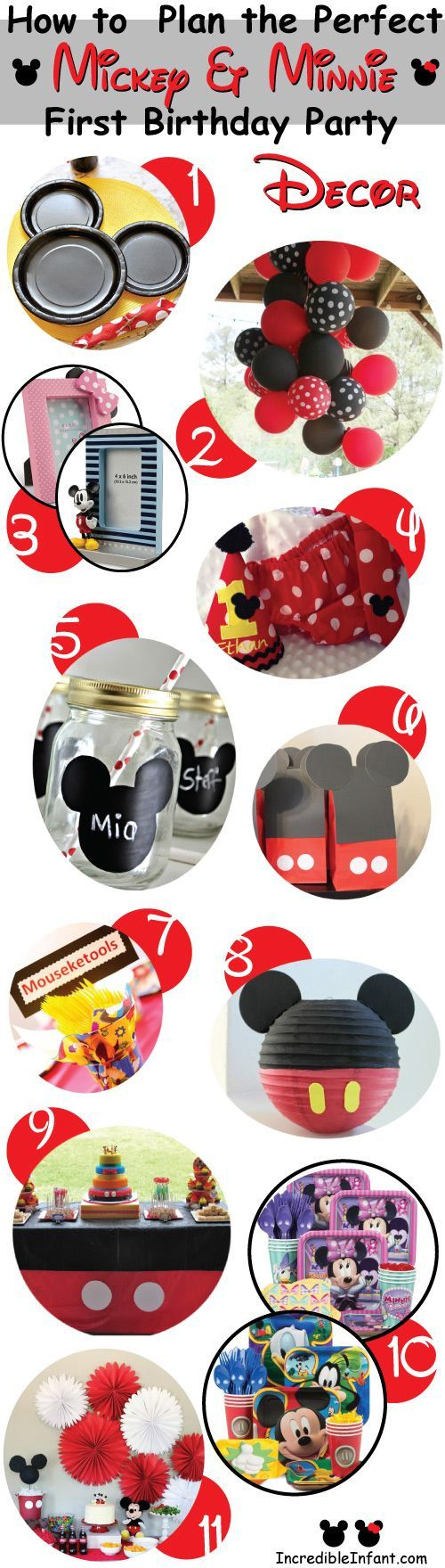 Great decoration ideas for a Mickey Mouse Birthday Party