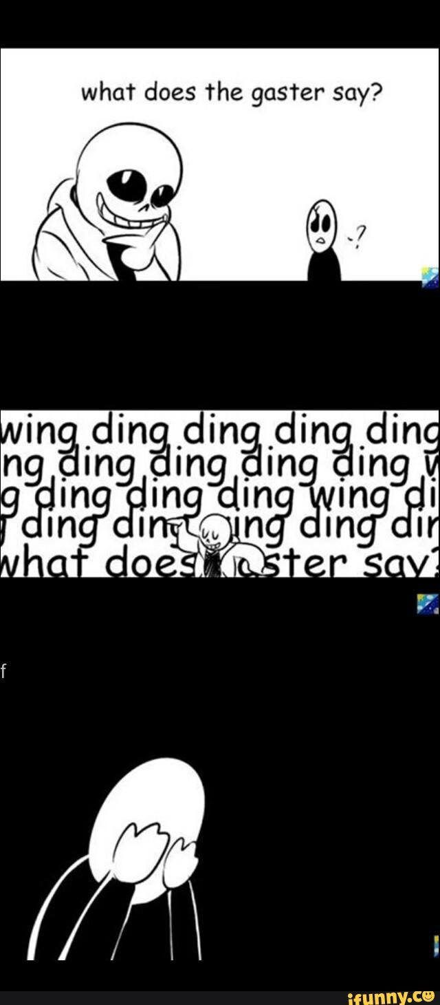 Undertale Gaster oh my god Sans
