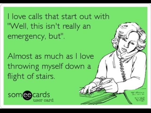 This is every other 911 call we take..  and if this wasn't so funny, I'd have to cry about it!