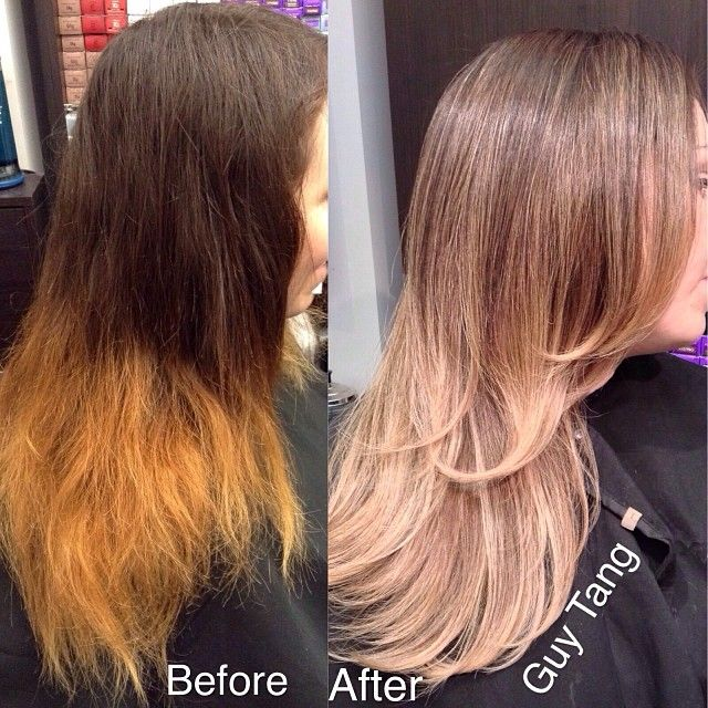 Color correction make-over #balayage #ombre