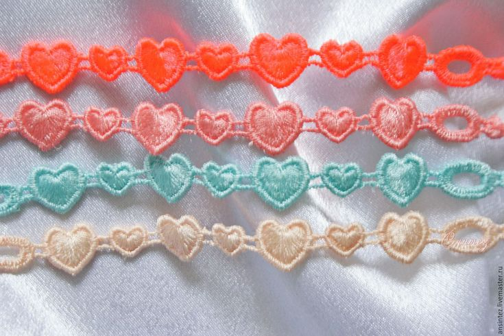 Buy embroidered bracelets Hearts Lolly Pop bracelet set embroidered - bracelet embroidered
