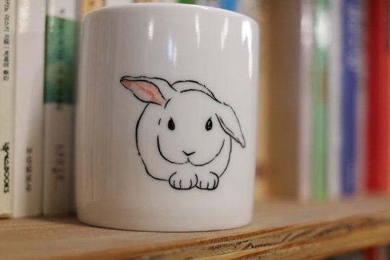 Mug animal  lapin de tasse  mug lapin  tasse par CreativeStoneCera                                                                                                                                                                                 Plus