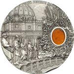 Palau 2013 10$ St. Peter's Basilica  Mineral Art 2 oz UNC Silver Coin