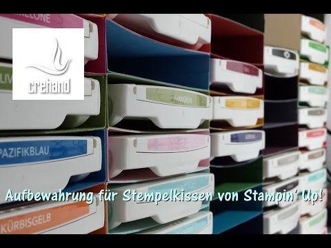 Aufbewahrung für Stempelkissen von Stampin' Up! - YouTube