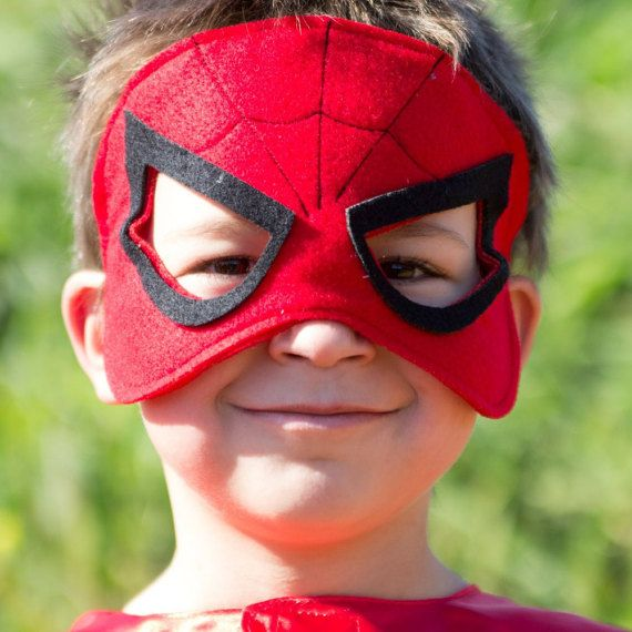 Spiderman kids mask Handmade girls boys Spiderman felt mask Toddler Spiderman costume accesories Super Hero Holloween for children