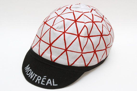 Cycling cap Montréal White by ShopDisamare on Etsy, $35.00