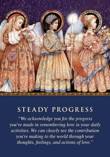 You drew this card as reassurance that you're making steady progress. You sometimes harshly compare yourself to others, and feel that you should be farther ahead on your path by now. Yet look how far you've come, how many lessons you've learned, and how many people you've helped! instead of expecting perfection from yourself. You're on the right path, even if it feels that you're moving slowly • Praise the light instead of cursing the darkness