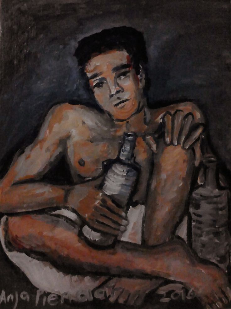 Anja Pienaar (Man with wine)