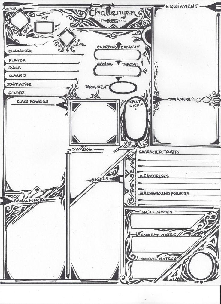 pathfinder character sheet pdf