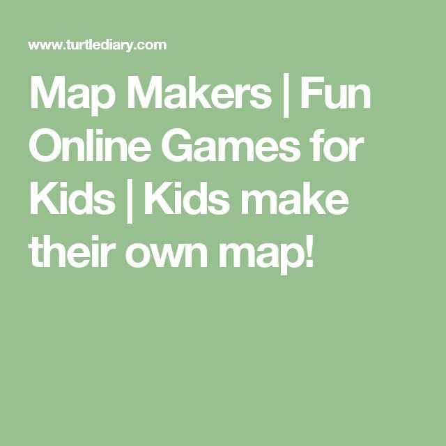 Map Makers | Fun Online Games for Kids | Kids make their own map!