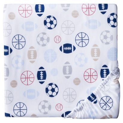 Woven Fitted Crib Sheet Sports Circo Target Sports