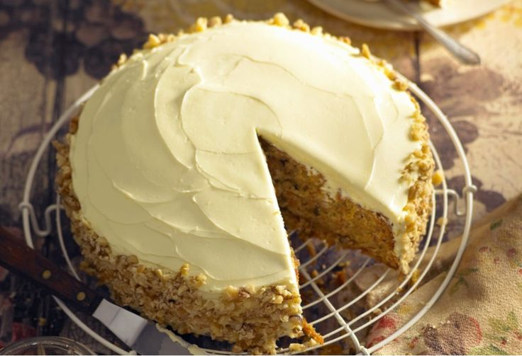 A crowd-pleasing carrot cake topped with plenty of cream cheese icing