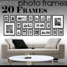 20 pcs Picture Photo Frame Set Wall Black 220 x 80cm Home Decor Art Colour Gift