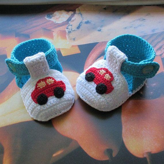 Häkeln Sie Babyschuhe häkeln Jungen Schuhe von NPhandmadeCreations