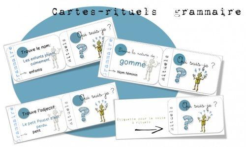 CE- Cartes rituels grammaire