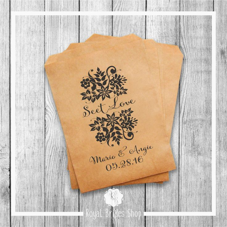 Wedding Favor Bags - Style 011
